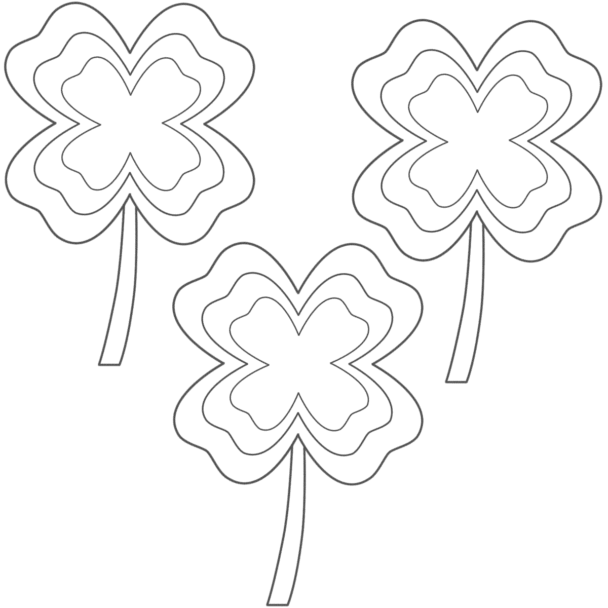 Four Leaf Clover Clip Art At Clkercom Vector Online Sketch