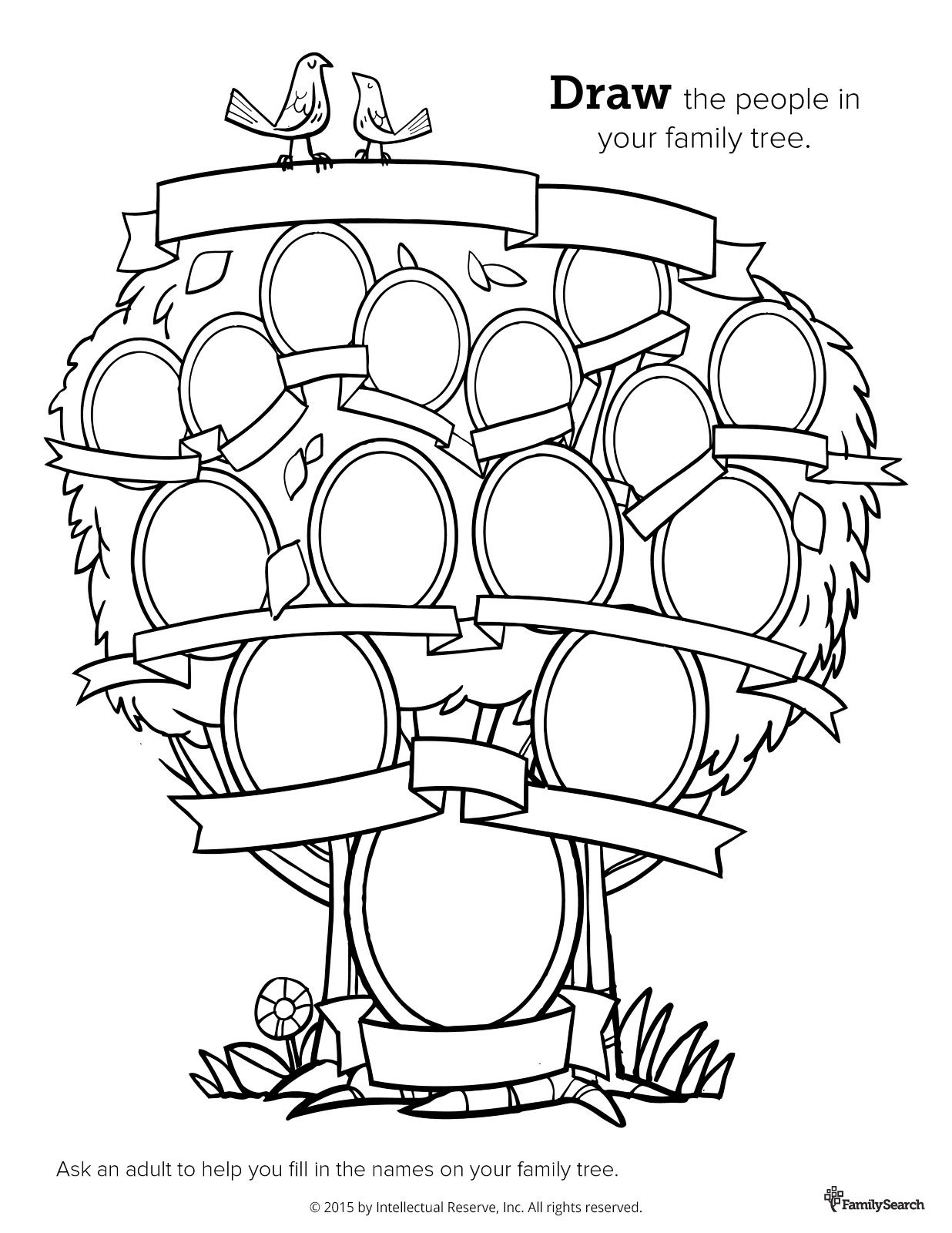 Family Tree Coloring Pages