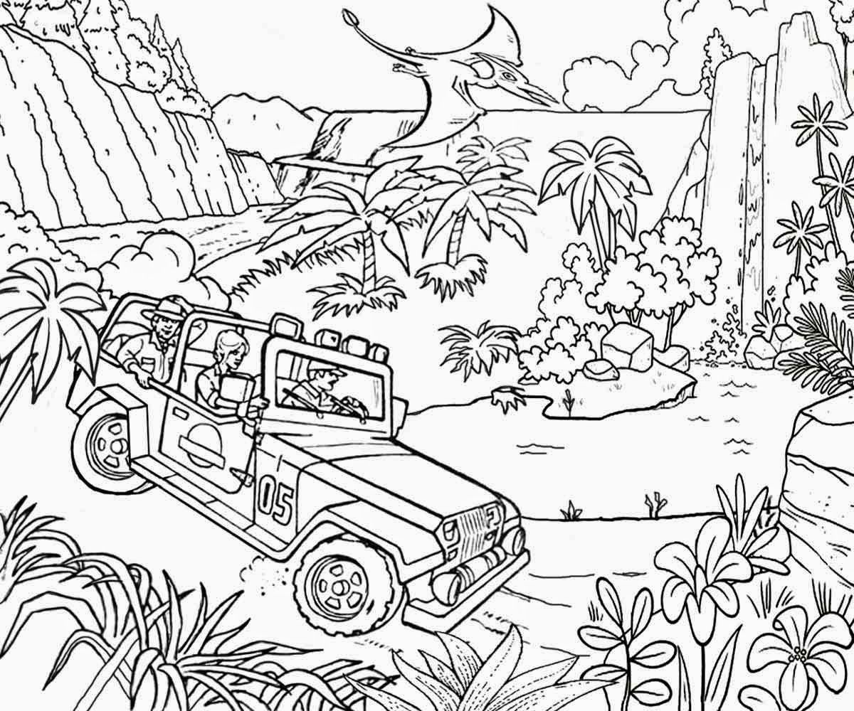 Jurassic Park Coloring Page