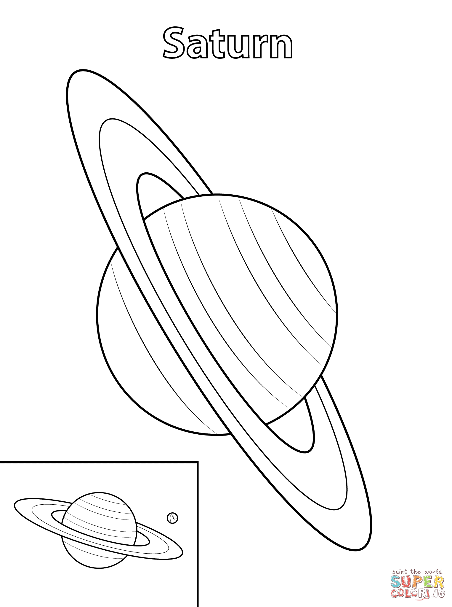 Saturn Coloring Pages Print