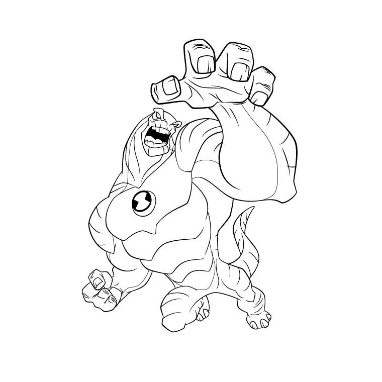 Ben Ten Alien Force Coloring Pages AZ Coloring Pages