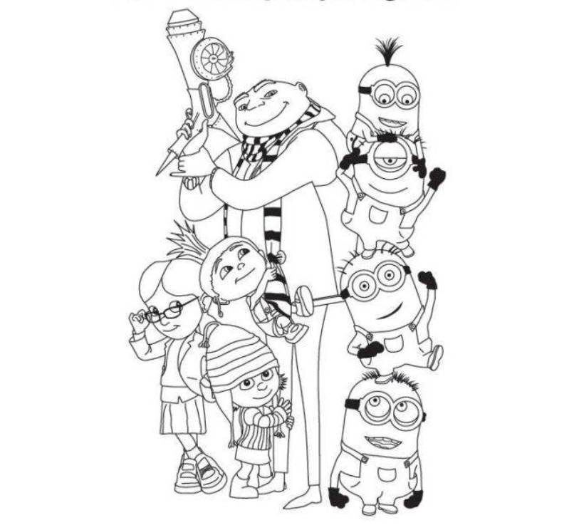 Despicable Me Coloring Pages Coloring Home