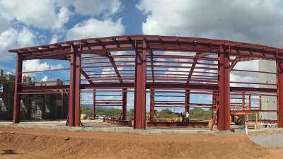 Panoramic Picture of the Camp Verde Community Library of Structural Steel