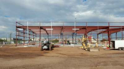 Construction of Werner Truck Driving Facility of Structural Steel, Beginning Construction Stages