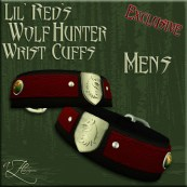 AZE Lil Red's Wolf Hunter Wrist Cuffs Mens Poster 512