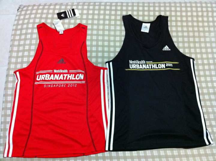 2012 (left) vs 2011 (right) race singlet.