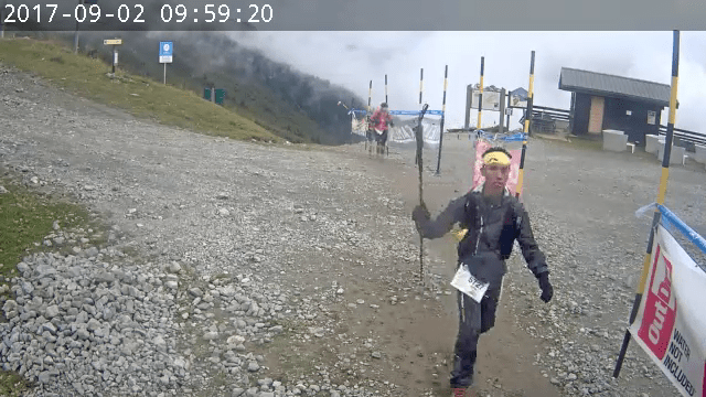Coming up the final check point. And a small moment for the web camera.