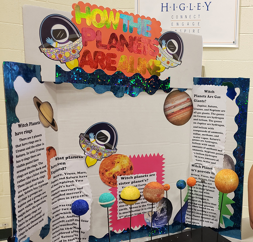 Centennial Showcases 5th Grade Earth And Space Projects