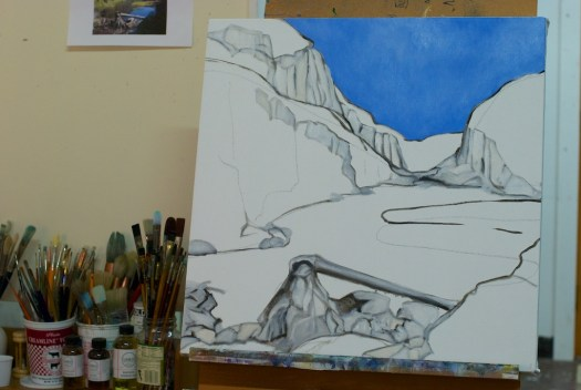Paysage in progress, shot #1