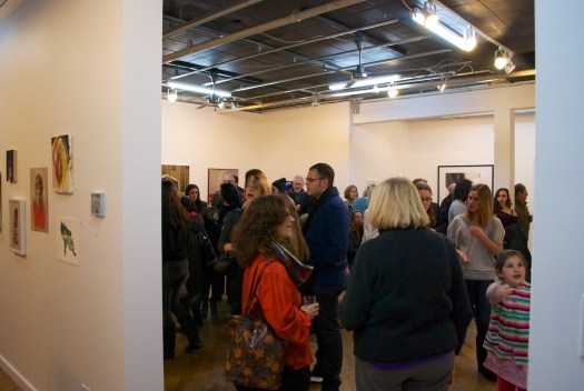 A big crowd on Friday night at Trestle Gallery
