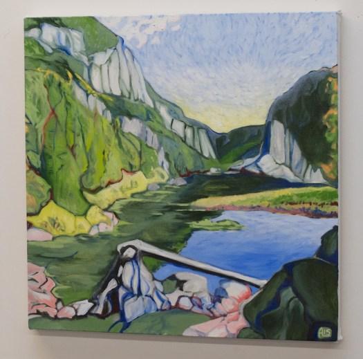 "Paysage planétaire (Avalanche Pass), oil on canvas, 24x24"", 2015"