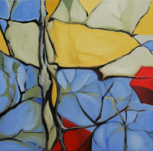 """Lifeworld 1"", oil on canvas, 20x20"" (approx. 50cm2). Summer, 2012. The project starts here!"
