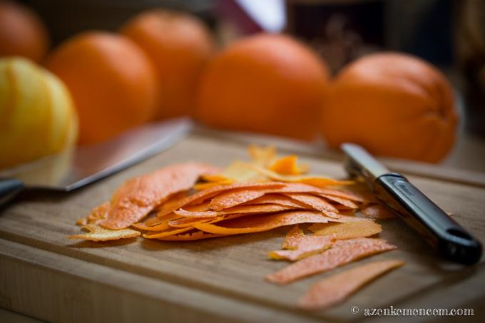 Marmeládé - narancshéj szeletelés előtt