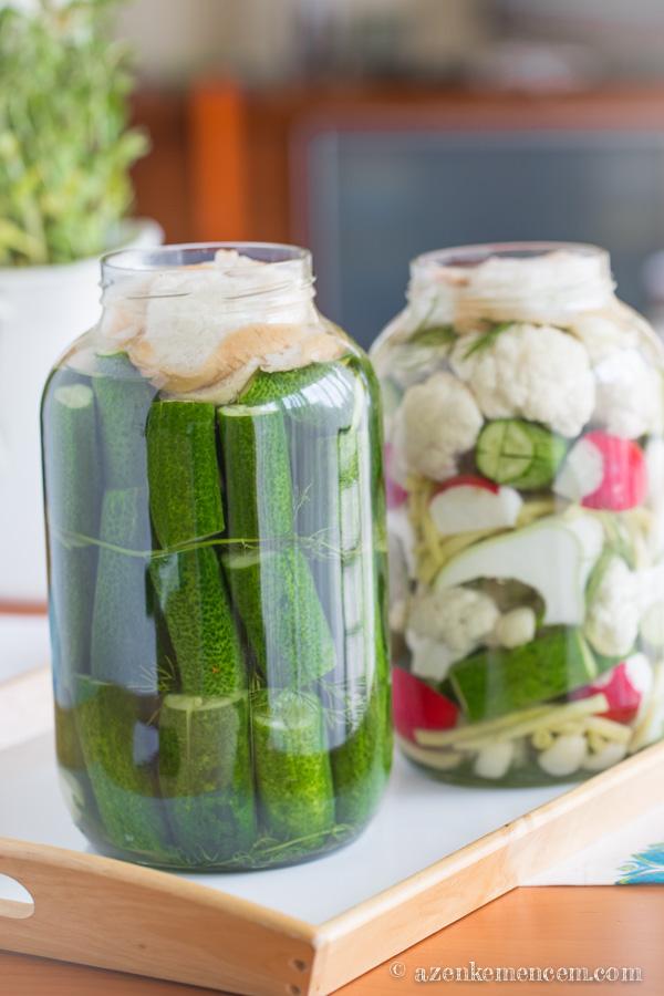 Kovászos uborka - 5 literes üvegben