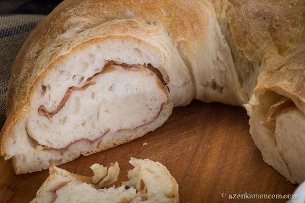 Sonkás kenyér - prosciutto-t tekertem a tésztába