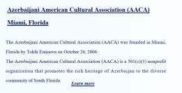 AzerbaijaniAmericanCulturalAssociationFlorida