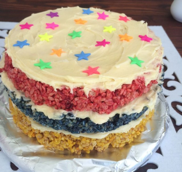rice-crispies-rainbow-cake-4