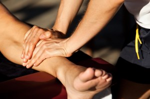 Hands on athletic training treatment