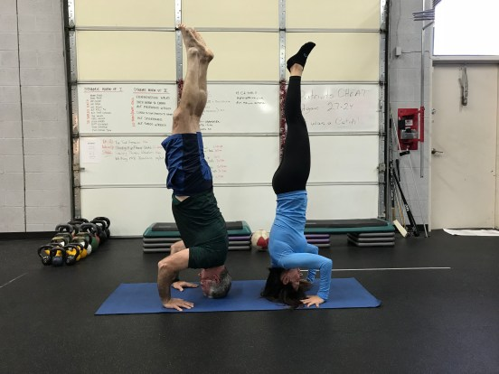 Dualling headstands!