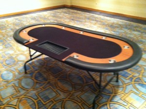 7' Poker Table with Black Felt
