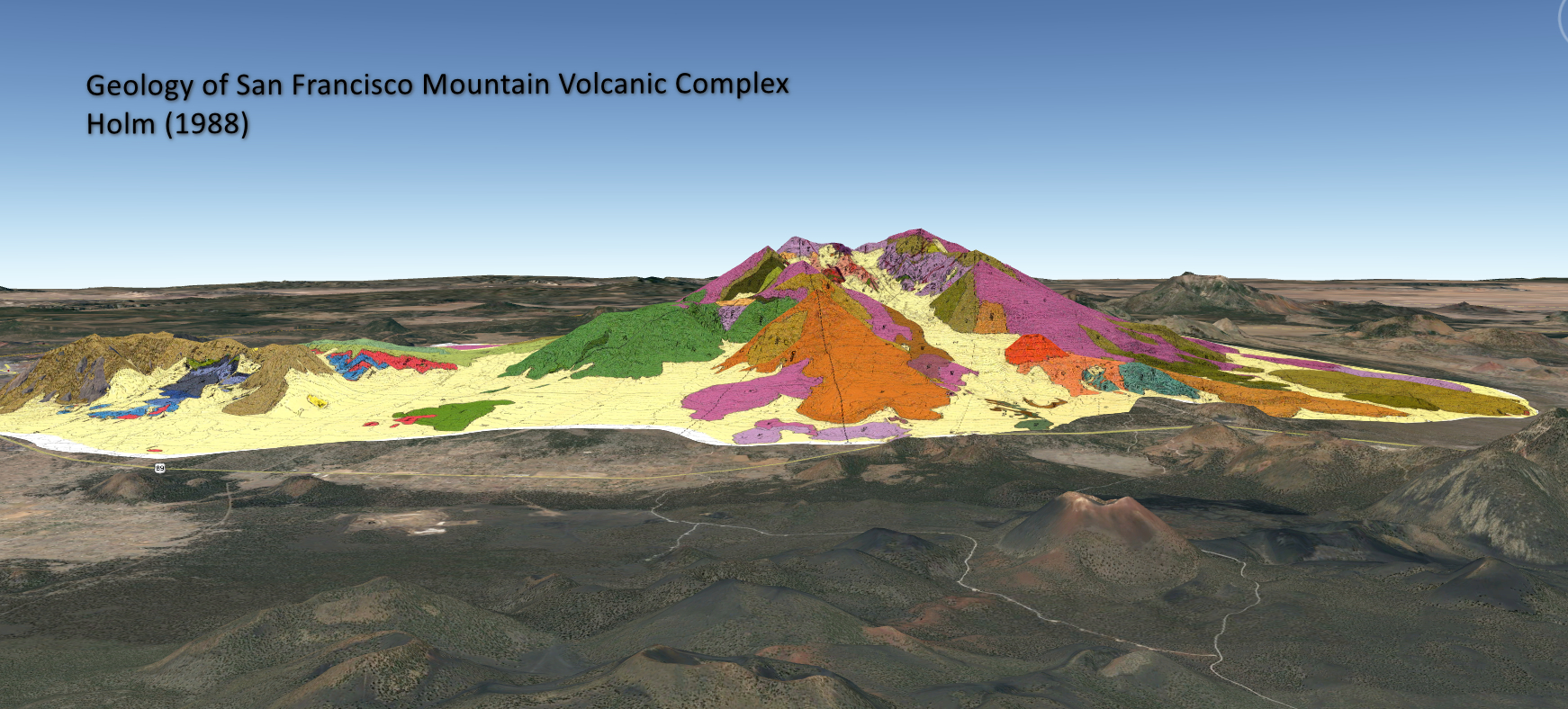 Our goal in the san francisco. Geologic Map Of San Francisco Mountain 3d Azgs