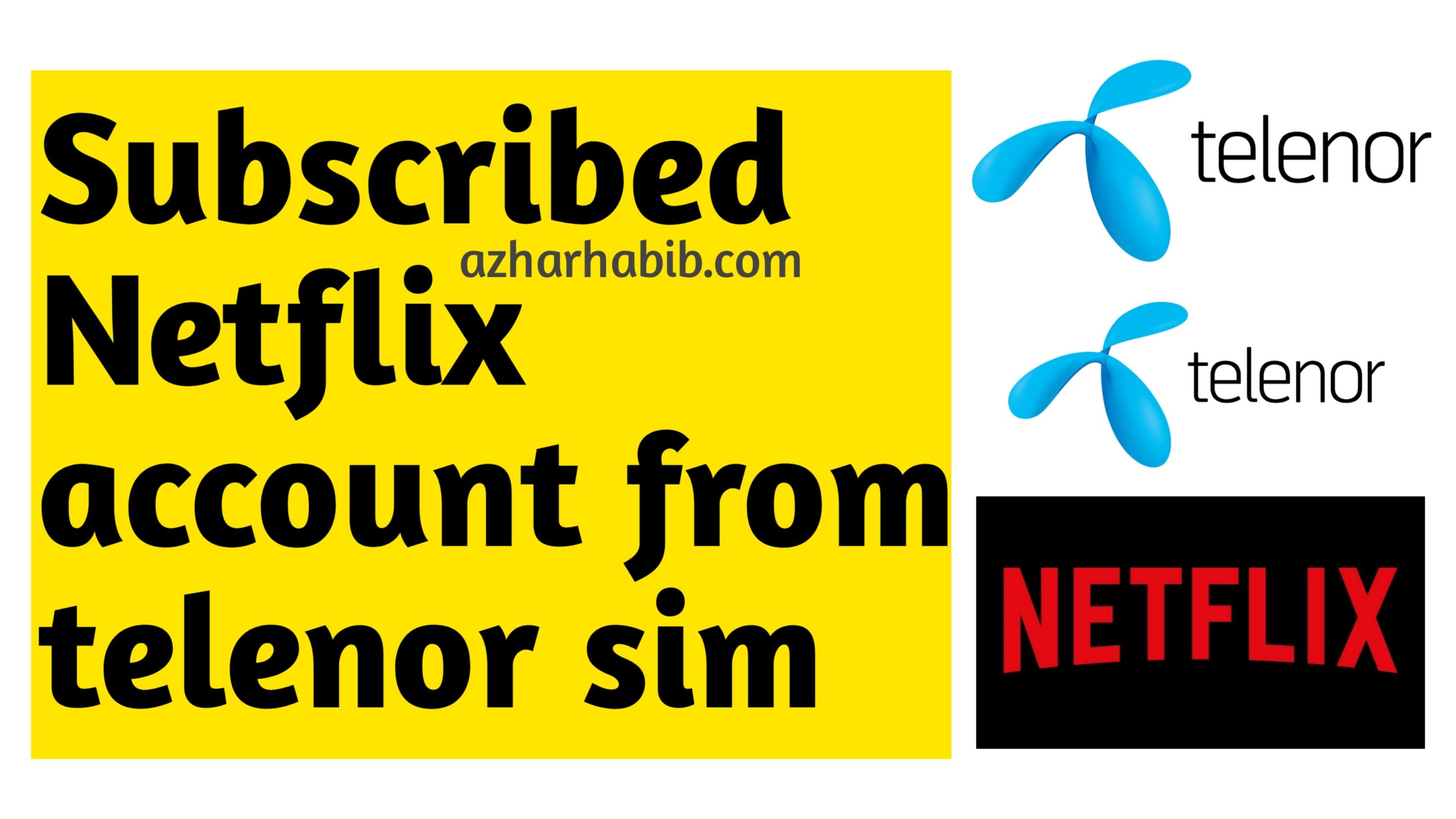 How to subscribe to Netflix through Telenor sim