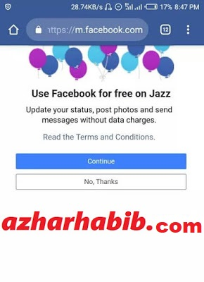 mobilink free facebook activation
