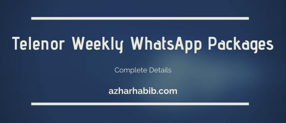 Telenor Weekly WhatsApp Package