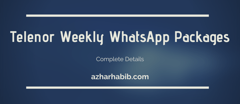 Telenor Weekly WhatsApp Package