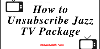 How to Unsubscribe Jazz TV Package