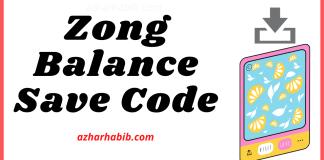 Zong Balance Save Code