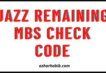 Jazz remaining MBs check code