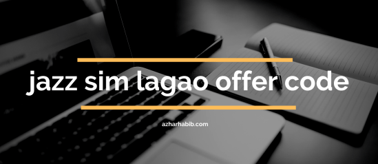 jazz sim lagao offer code