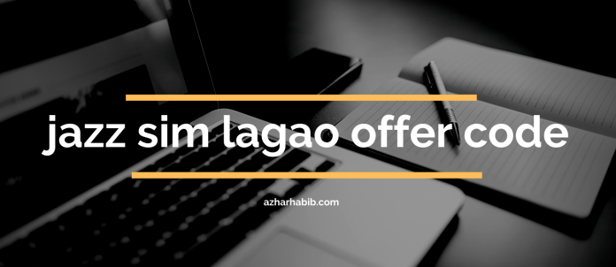 jazz sim lagao offer code
