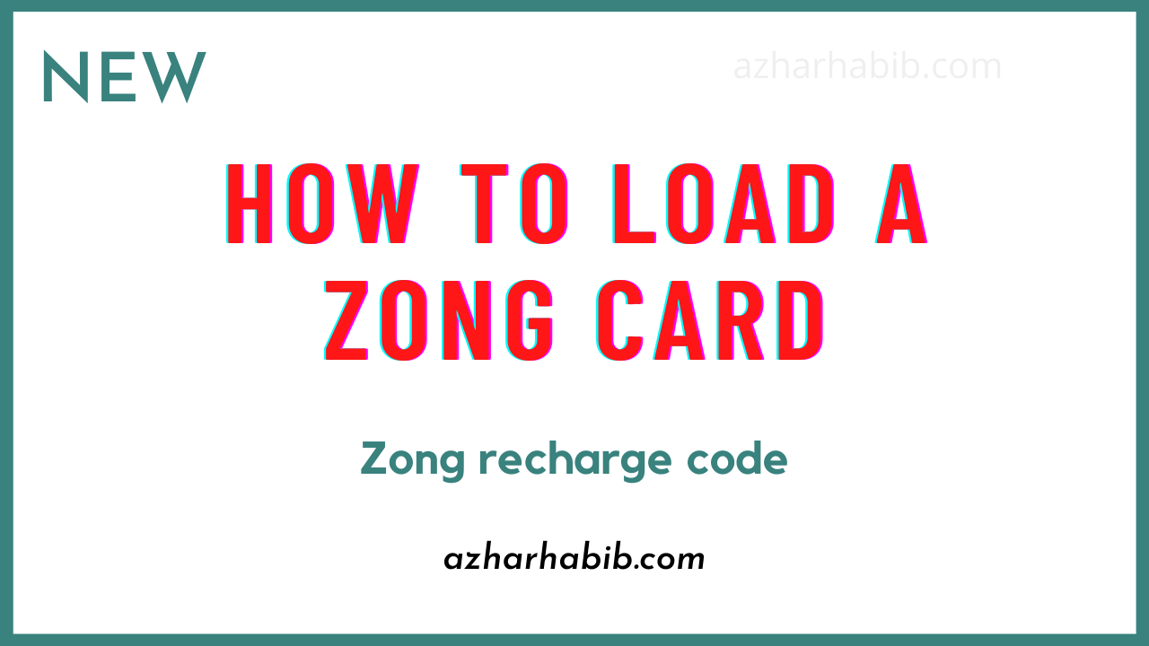 How to load a Zong card   Scratch card   Zong recharge code