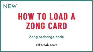 How to load a Zong card | Scratch card | Zong recharge code