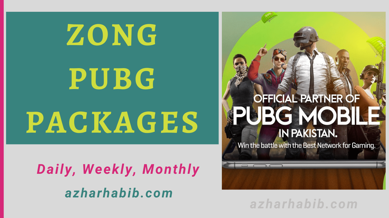 Zong PUBG Packages