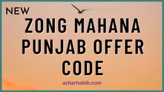 Zong Mahana Punjab offer
