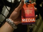 Fancy credentials for the Grammy Celebration