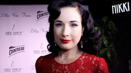 Interviewing the lovely Dita Von Teese