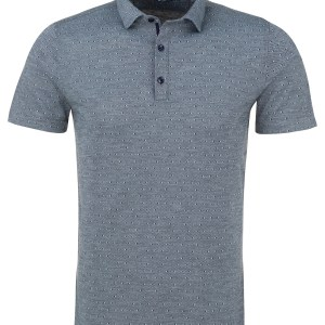 stone rose light blue jacquard knit polo