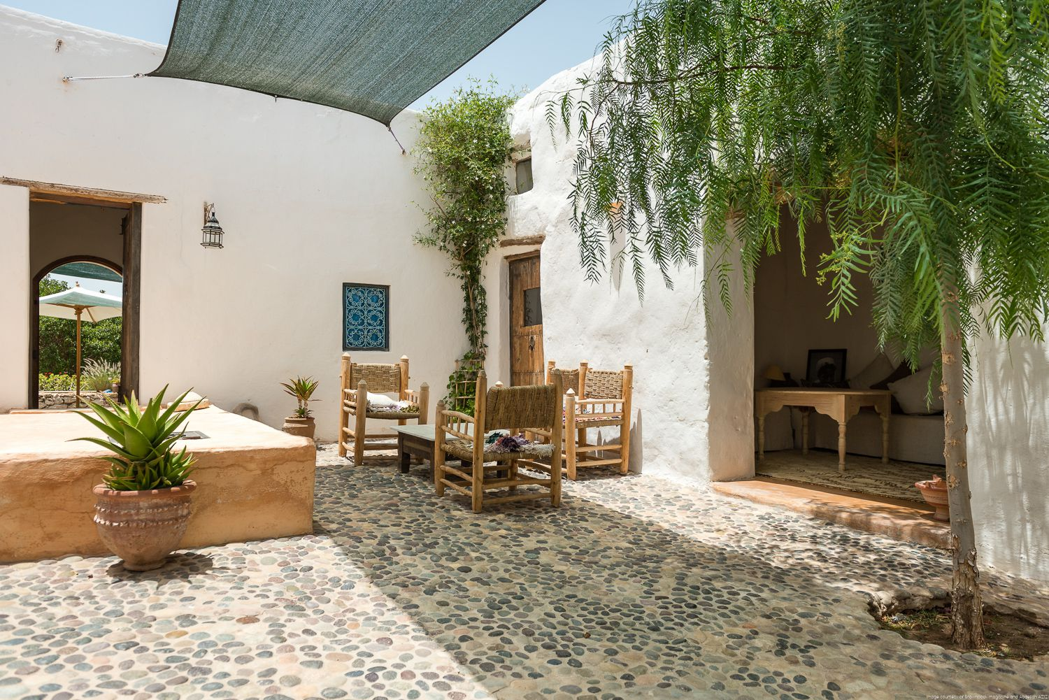 traditional beautiful guest house, Essaouira, Moroco