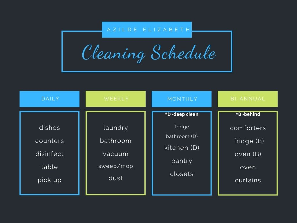 Cleaning Schedule (Perfect For Spring)