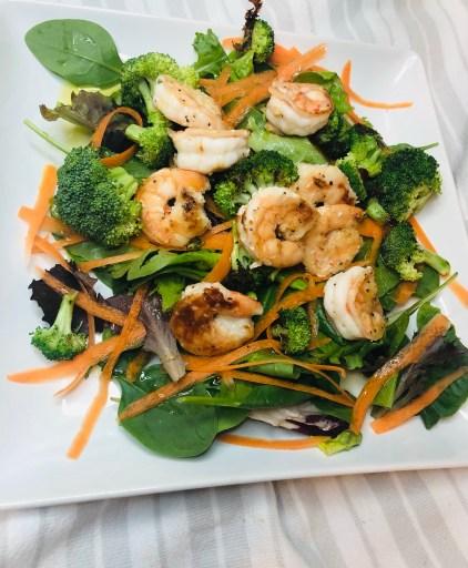 salt and pepper shrimp salad