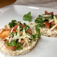 Bruschetta On A Rice Cake (A Healthy Holiday Snack)