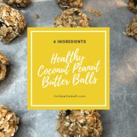 Healthy Coconut Peanut Butter Balls (6 Ingredients)