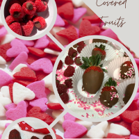 Valentine's Day Chocolate & Fruit Dessert