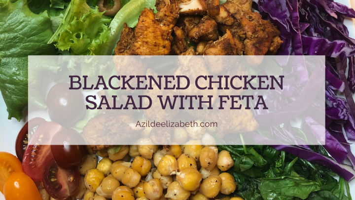 Blackened Chicken Salad With Feta Cheese