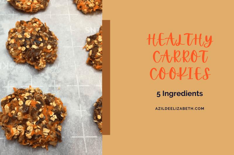 Healthy Carrot Cookies (5 Ingredients)