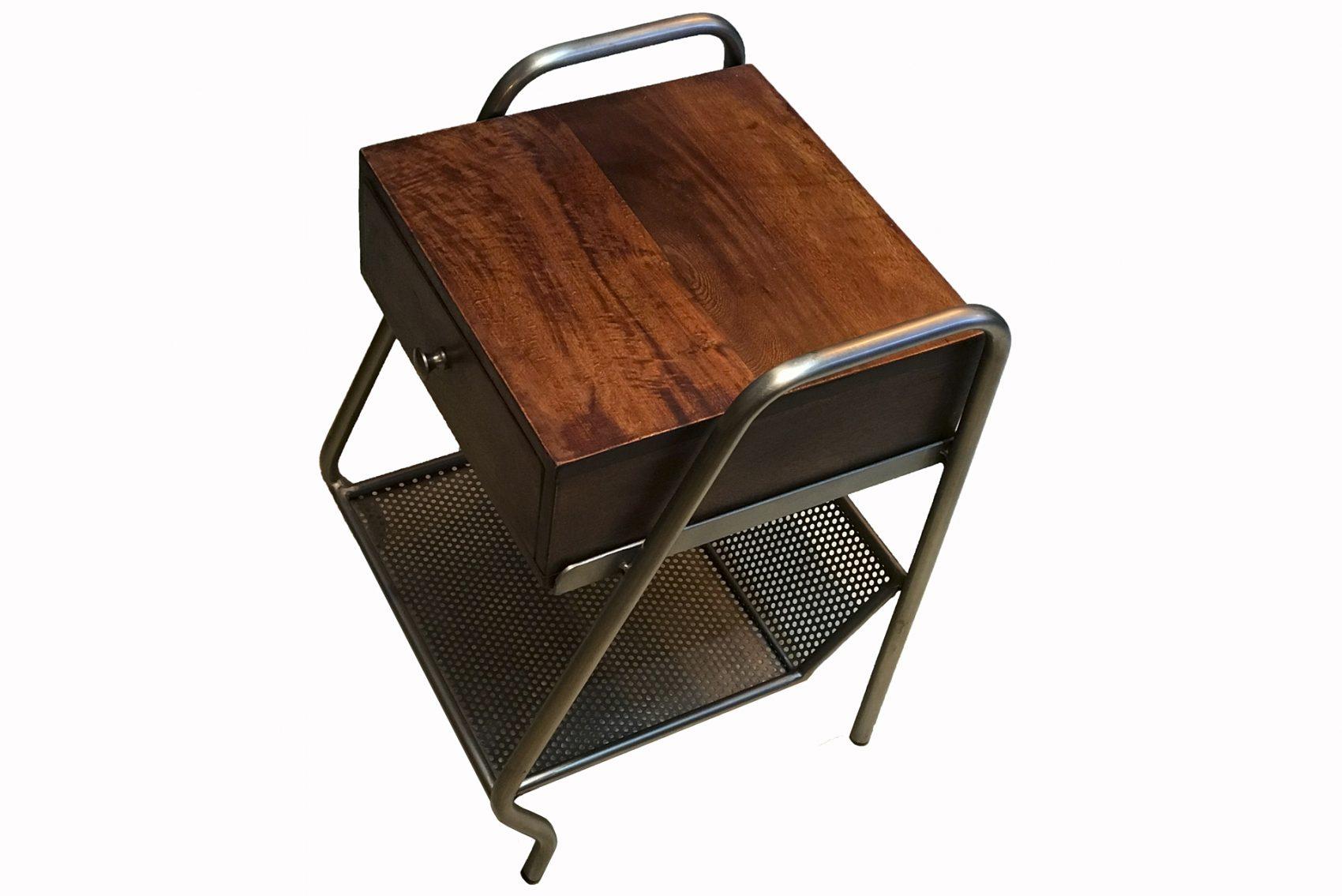 petit meuble vintage bois et metal